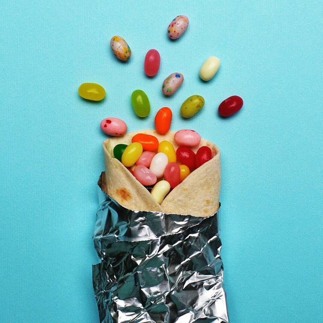 Jelly bean burrito by lizzie darden- still life | Rainbow ...