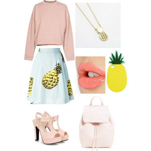 A fashion look from February 2015 featuring Acne Studios sweaters, MSGM skirts and 77Queen sandals. Browse and shop related looks.
