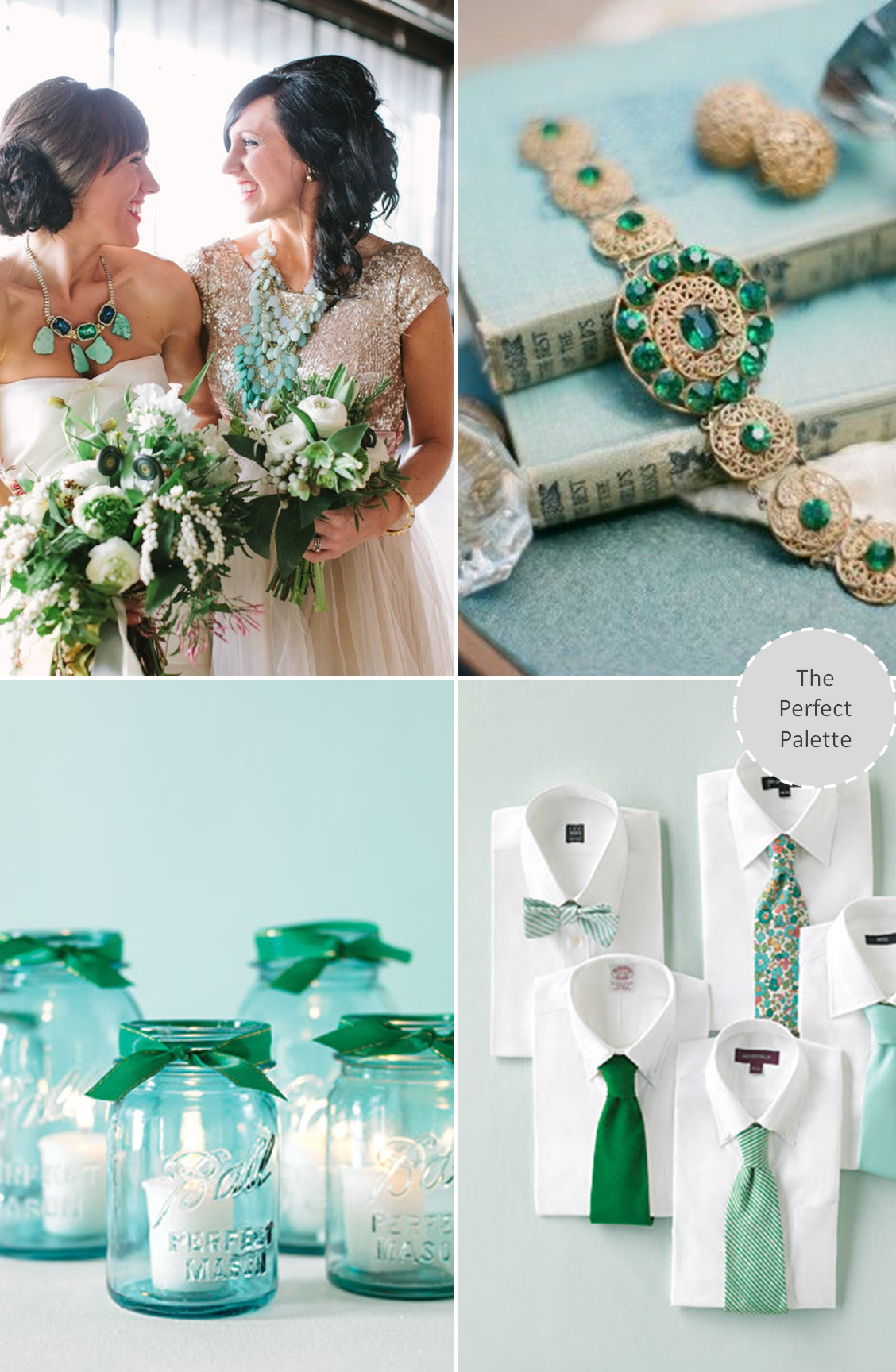 Wedding Colors - Aqua + Emerald