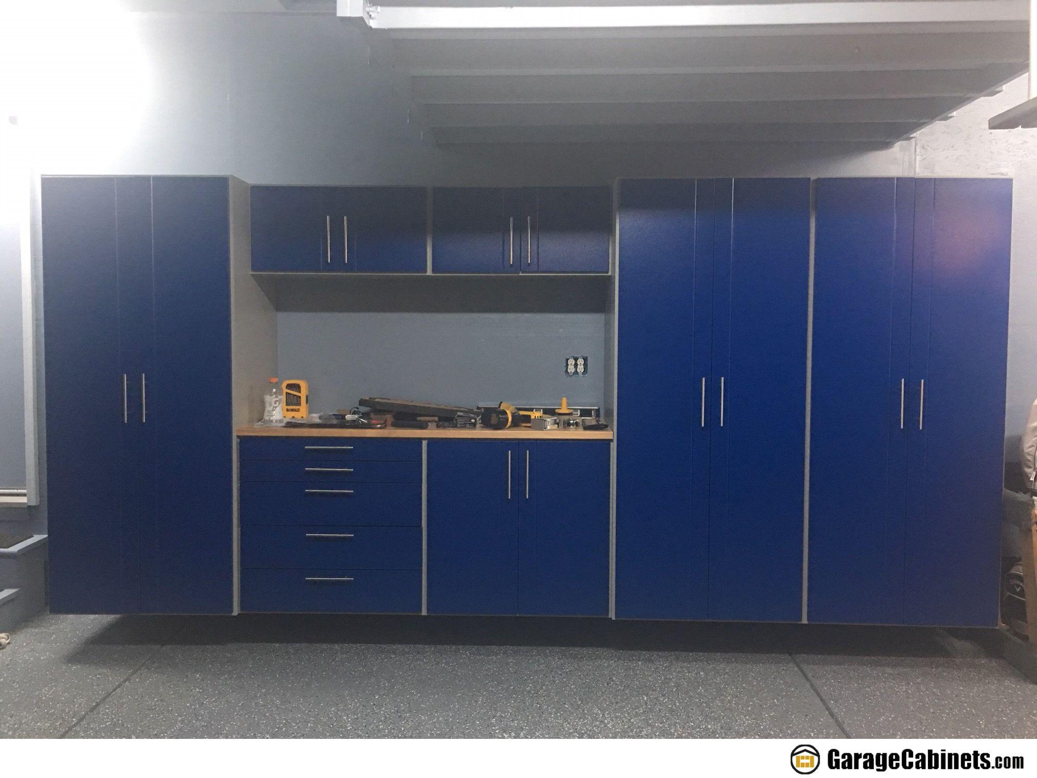 Garagecabinets Com Manufactures The Finest Blue Garage Storage