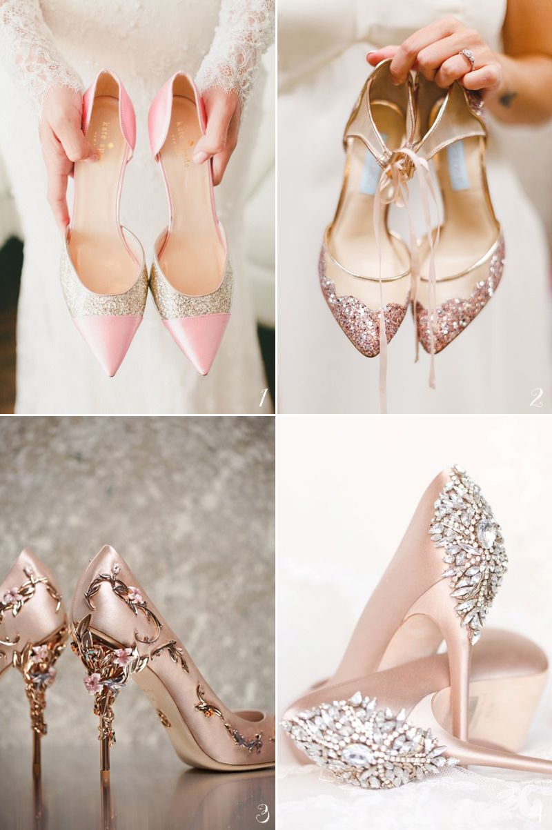 bf9603560447 12 Dreamy Pastel Pink Wedding Shoes For Romantic Brides!