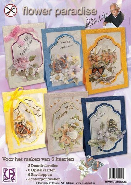 Staf Wesenbeek Flower Paradise Die Cut Cardmaking Kit - makes 6 cards