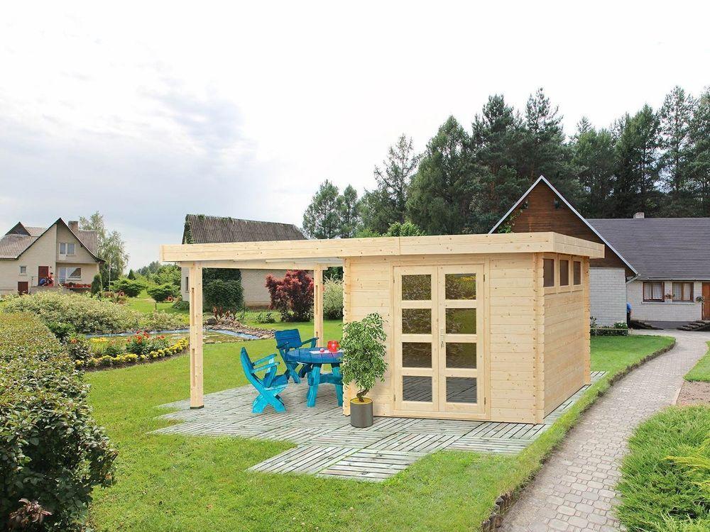 Fußboden Im Holzhaus ~ Gartenhaus kiosk blockhaus cm mm inkl fußboden