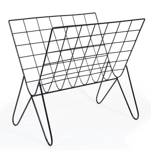 Porte-revues en métal noir GRAFIK Idées Salon Pinterest Interiors - Conforama Tables De Cuisine