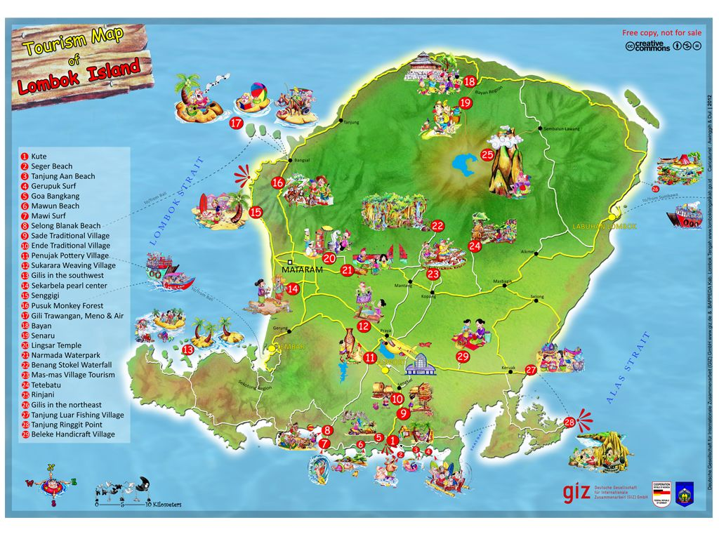Tourism map of lombok island indonesia lombok pinterest tourism map of lombok island indonesia gumiabroncs Gallery