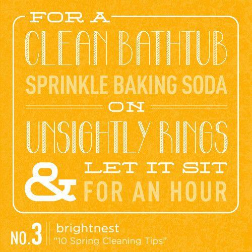 For A Clean Bathtub, Sprinkle Baking Soda On Unsightly