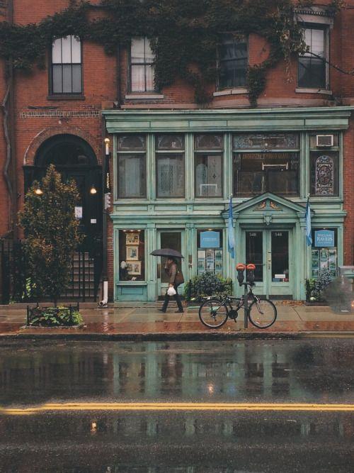 Imagen de rain, city, and street
