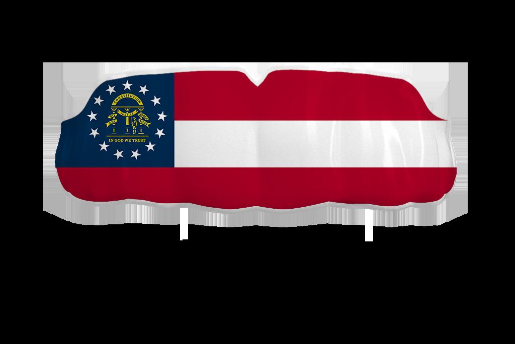 Georgia State Flag In 2021 Georgia State State Flags Georgia