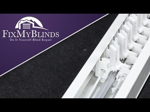 How To Restring A Split Draw Vertical Blind Headrail To Be