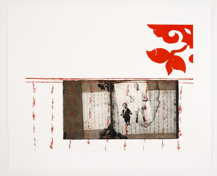 photogravure and silkscreen/ Leslie Golomb