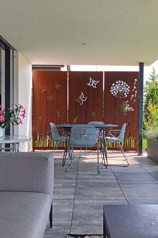 Sichtschutzwand Mit Schmetterlingen Muro Sichtschutz