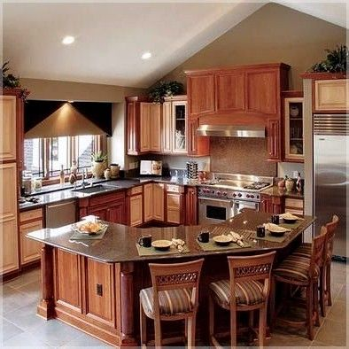 u shaped kitchen island with seating. kitchen island ideas ...