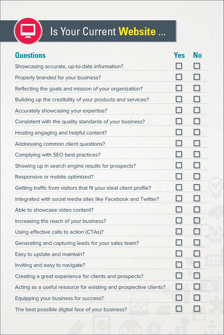 Complete B2B Website Checklist Website checklist, B2b