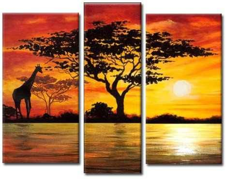 Pingl par tiffany mar chal sur peinture acrylique - Dessin paysage africain ...