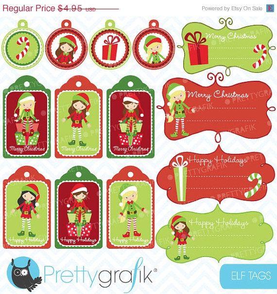 #christmas #clipart #christmas tags #prettygrafik #elves