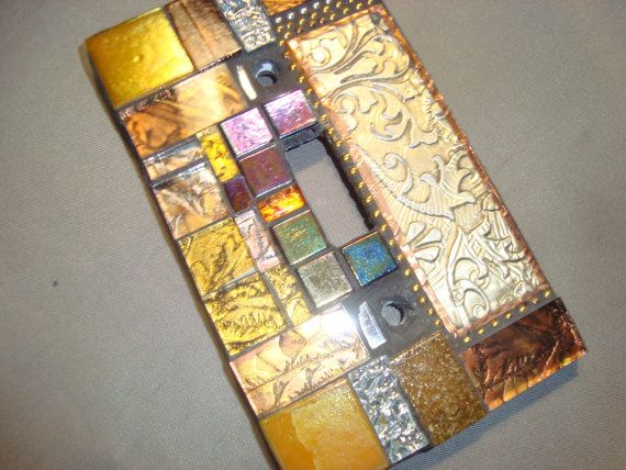 MOSAIC LIGHT SWITCH Plate Cover - Single, Wall Plate, Home Decor ...