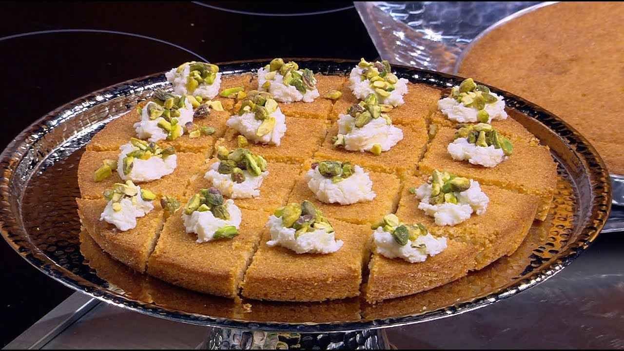 طريقة عمل البسبوسة الطرية سالي فؤاد Food Desserts Pie