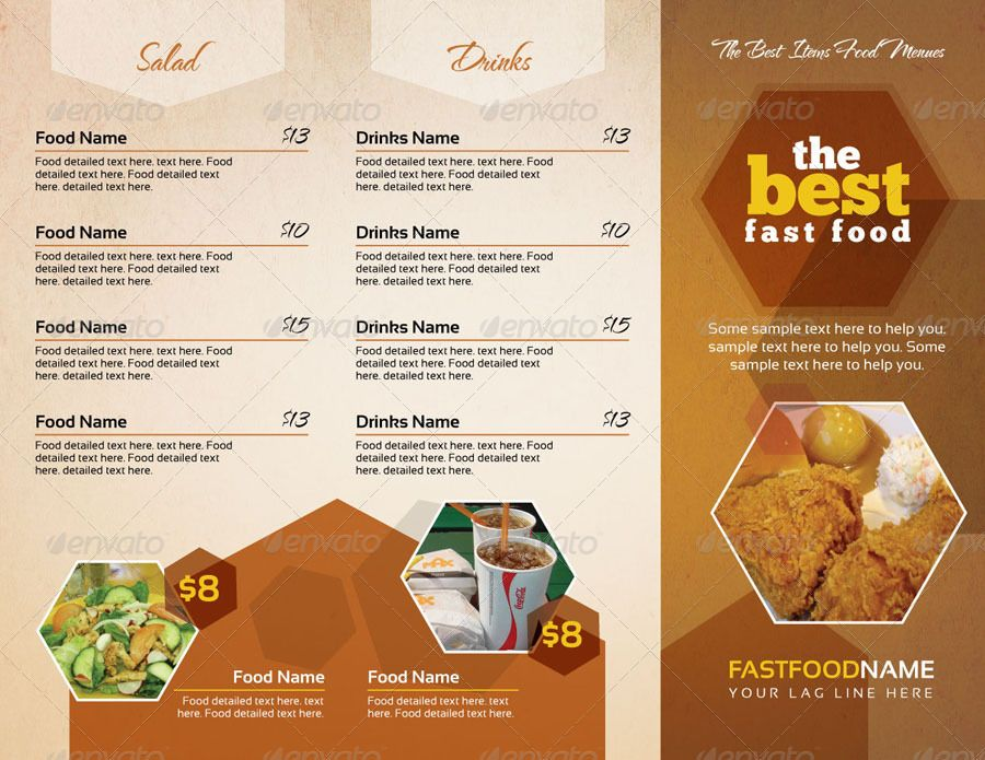 Restaurant Cafe TakeOut Menu Template Menu  Cafe Craze