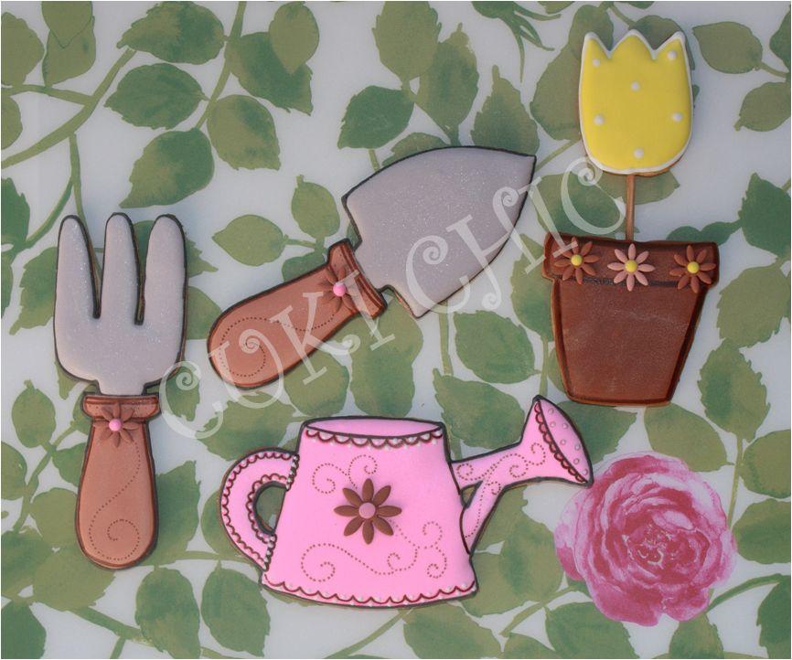 Galletas decoradas flores maceta tiles de jardiner a y for Utiles de jardineria