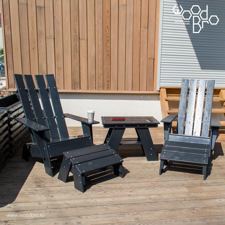 Деревянное кресло адирондак модерн - Купить в Москве - Братья по дереву