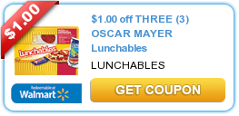 picture about Oscar Meyer Printable Coupons titled $1.00 off 3 OSCAR MAYER Lunchables #coupon Printable