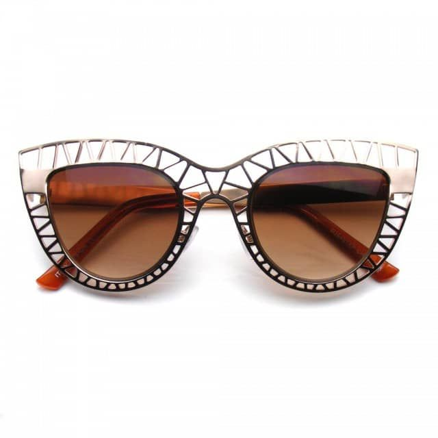 Tag your photos using #EEMetalMesh on ourInstagram!Vintage inspired indie fashion trend cat eye sunglasses. Stunning and fabulous, these unique metal mesh cut out cateye sunnies are super futuristic and perfect for this festival season. Find your inner hippie wallflower in these boho sunglasses.This item features metalhinges; stylish nose piece and polycarbonate 100% UVhigh impact-resistantprotected lenses.Make a Statementin these shades!Lens Width: 50mmNose Bridge: 15mmLens Height…