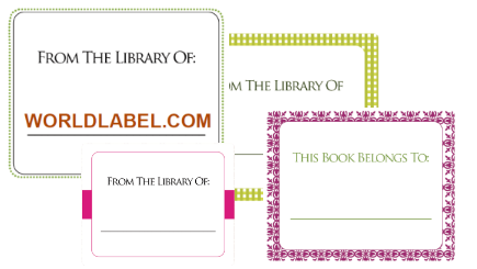 Free bookplate labels with good printing tutorial from for Bookplate templates for word