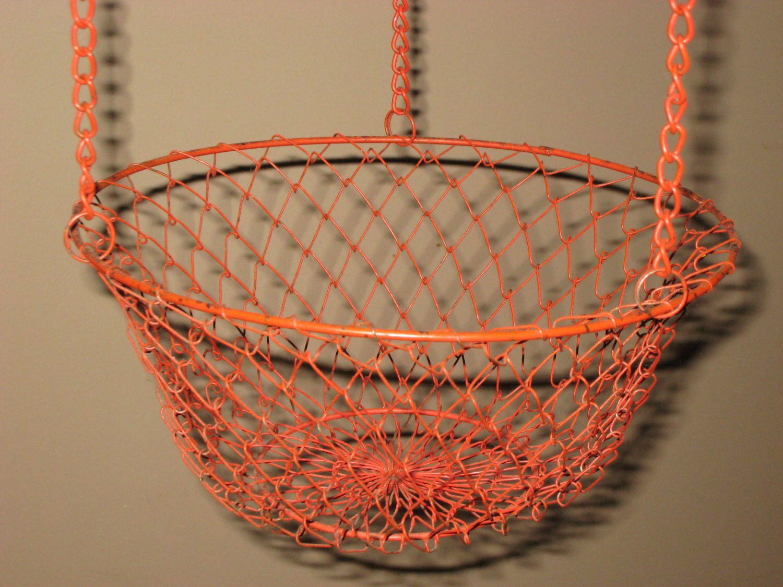 Uncategorized Hanging Wire Vegetable Basket hanging wire basket3 tier fruit vegetable basketred blue silver metal basketvintage basketbasket metal