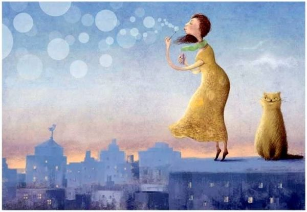 "Artist: Elena Lishanskaya ""Girl with a Cat"""