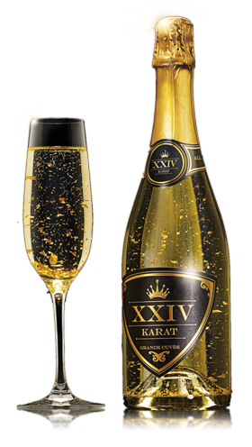 XXIV Karat Champagne is a beautiful way to celebrate! Especially Weddings or New Year's Eve.