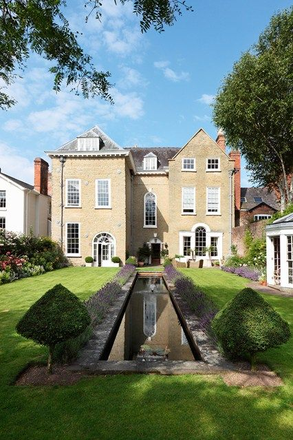 market town georgian house english gardens design landscaping ideas houseandgardenco - Georgian House Designs