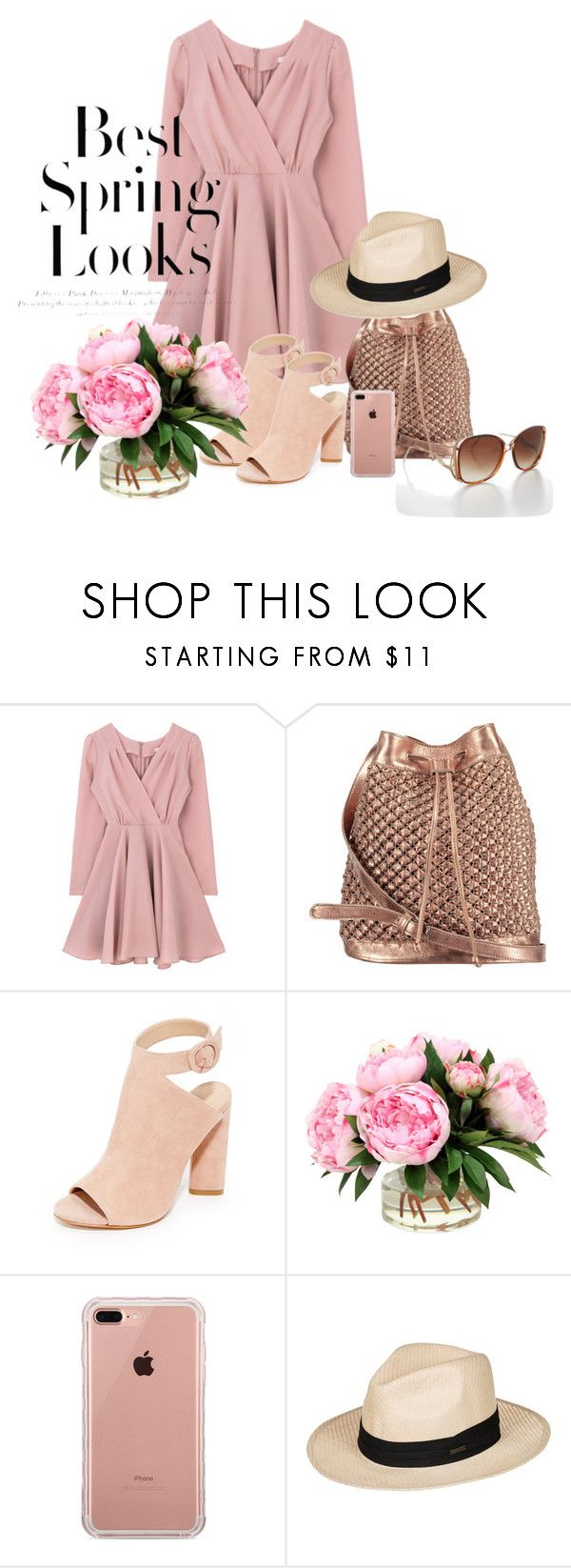 """""""Pink spring"""" by belle-papillon ❤ liked on Polyvore featuring nooki design, Kendall + Kylie, Belkin, Roxy and H&M"""