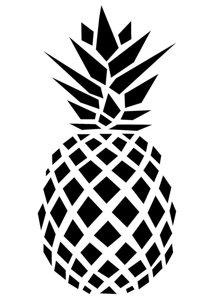 Картинки черно белые ананас