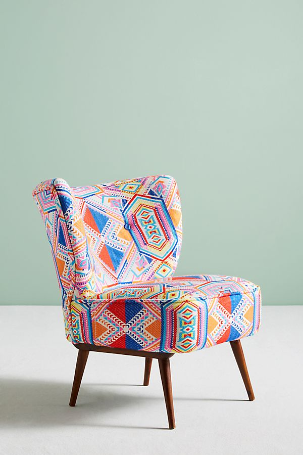 Chaise Ikat Marialle Ikat Chair Chair Occasional Chairs