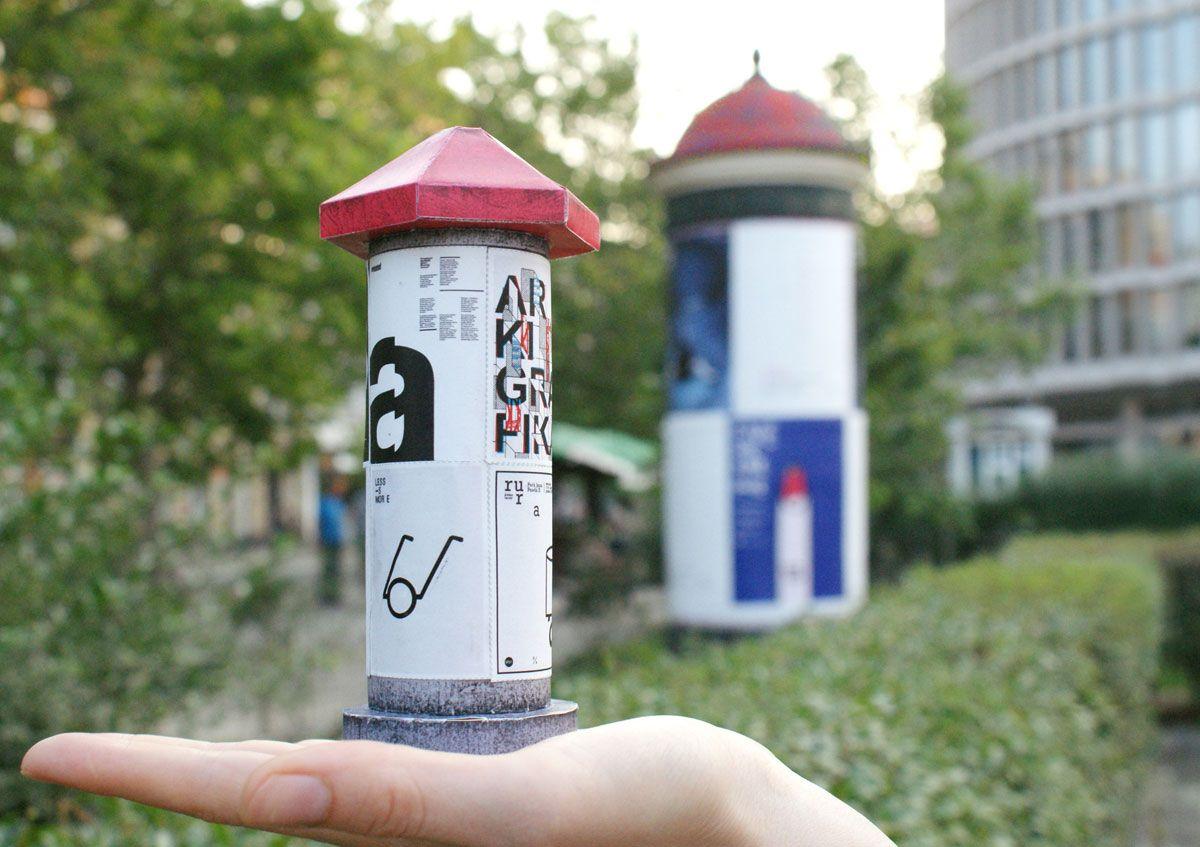 DIY Mini Advertising Column Portfolio