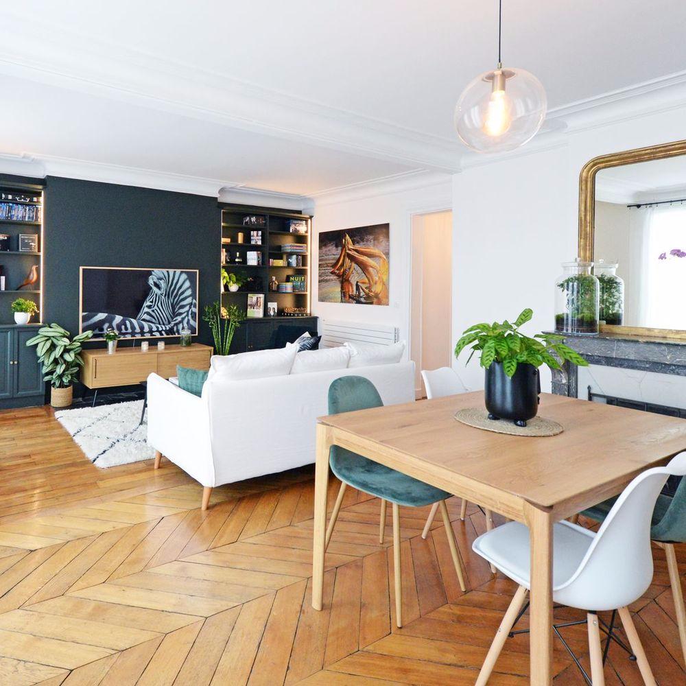 Photo of Appartement Paris 18 : un intérieur ancien modernisé grâce à la couleur