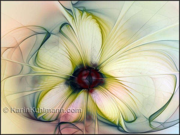 abstract flower artwork
