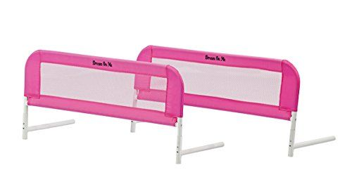 Dream On Me Mesh Bed Rails Pink Small 2 Count In 2020 Dream On Me Bed Rails Bed Rails For Toddlers