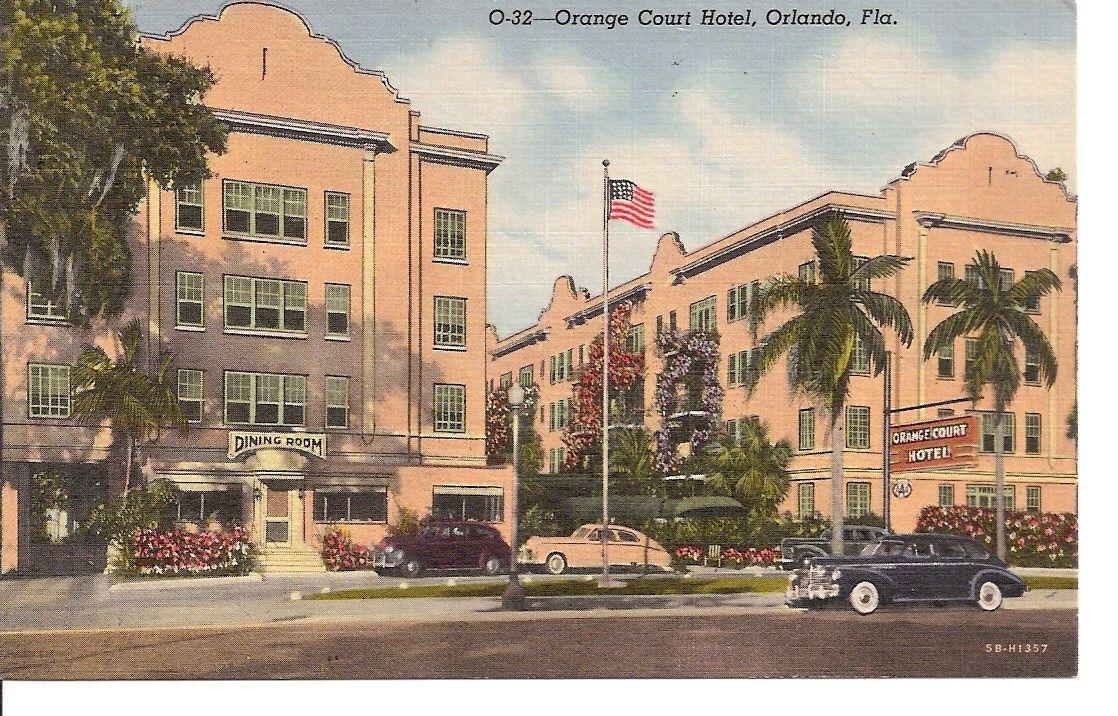 items similar to vintage postcard orange court hotel orlando fla on etsy vintage postcard old florida orlando orange court hotel orlando fla on
