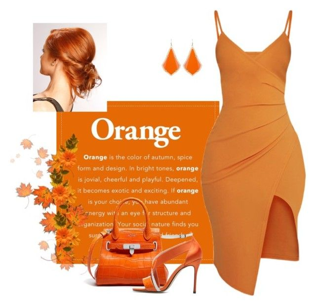 """""""Orange.."""" by bdneumanncuneo ❤ liked on Polyvore featuring Pretty Little Thing and Kendra Scott"""