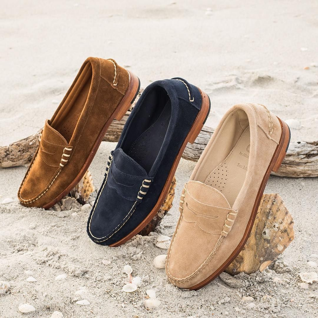 3e3a4c4a899 Allen Edmonds Men s Sea Island Penny Loafer AMAZON.com AD 100% Suede  Imported Leather sole Slip-on penny loafer Unlined Water-resistant sole  made of Butyl ...