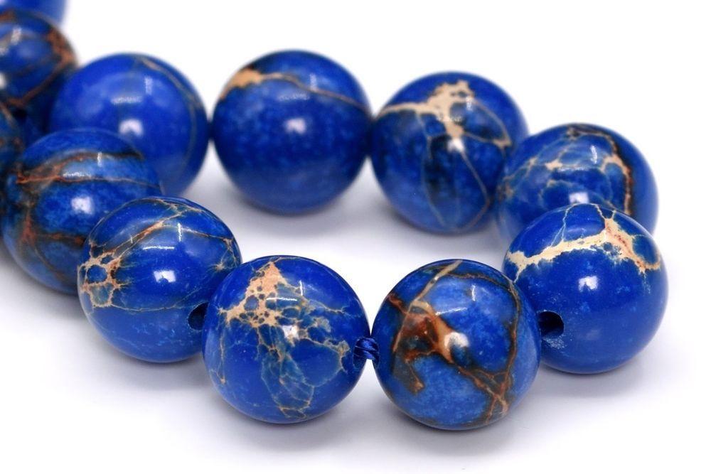 4mm~10mm Natural Stone Gemstone Reddish Orange Imperial Jasper Round Loose Beads