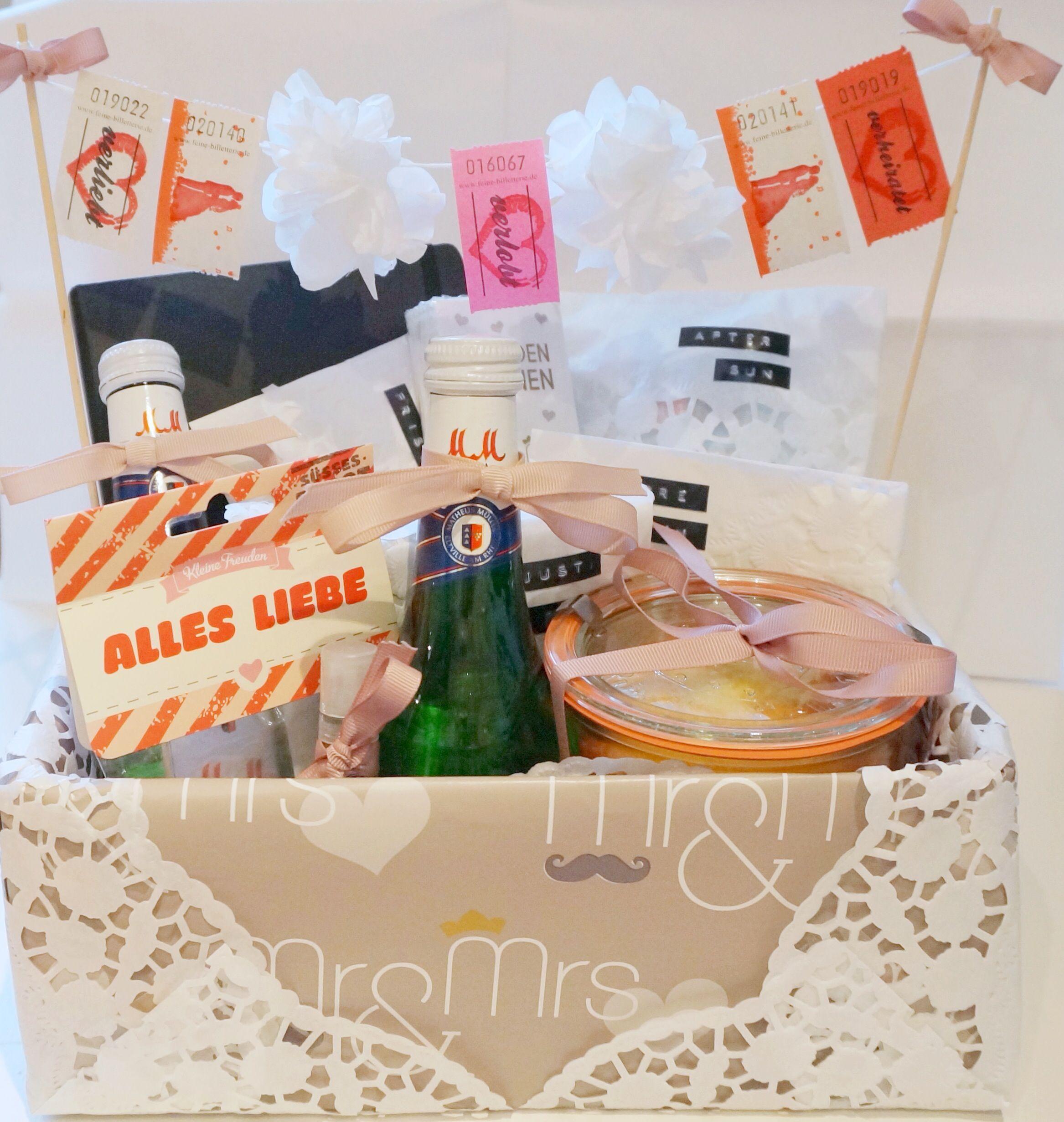 DIY Hochzeitsgeschenk Hochzeitsbox