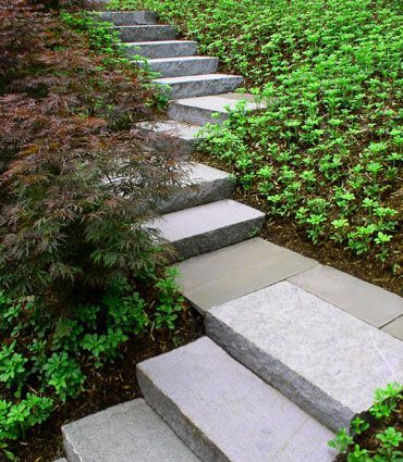 Garden Stairs  Granite And Bluestone . Exactly What I Need For The Slope In  The Front Yard.