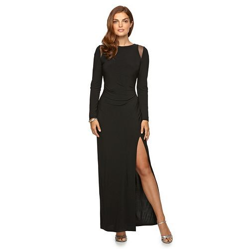 Women's Chaps Pleated Sheath Evening Gown