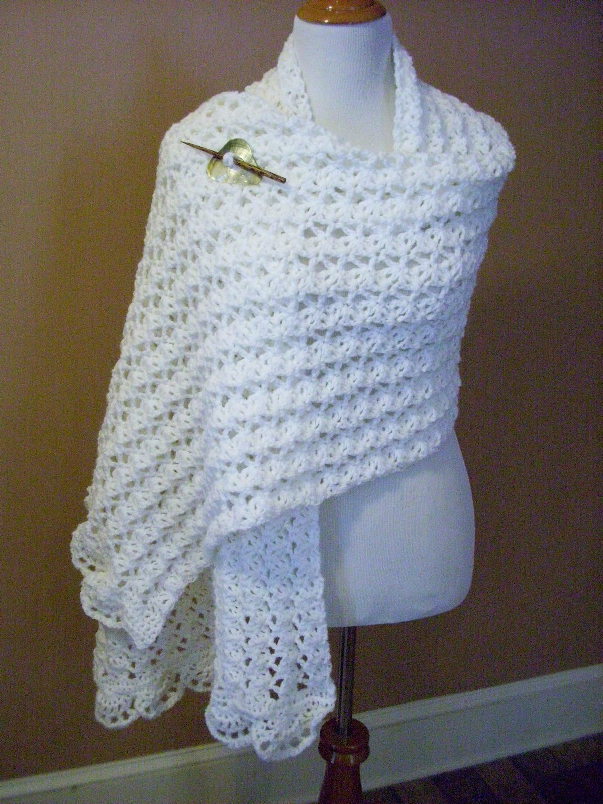 One Skein Summer Wrap By Marty Miller - Free Crochet Pattern ...