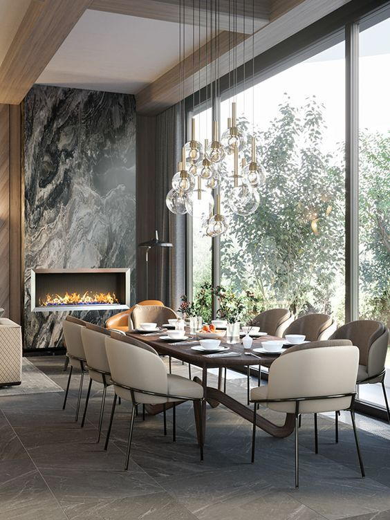 DINING ROOM IN EARTH TONES