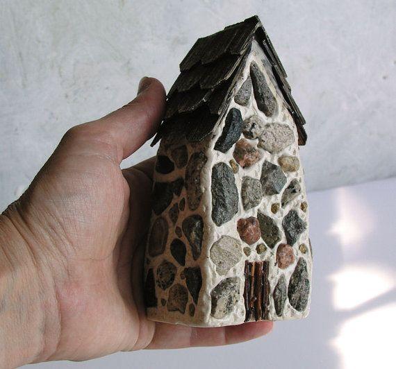 Handmade polymer clay fairy housefairy housesfairy gardens - jardines navideos