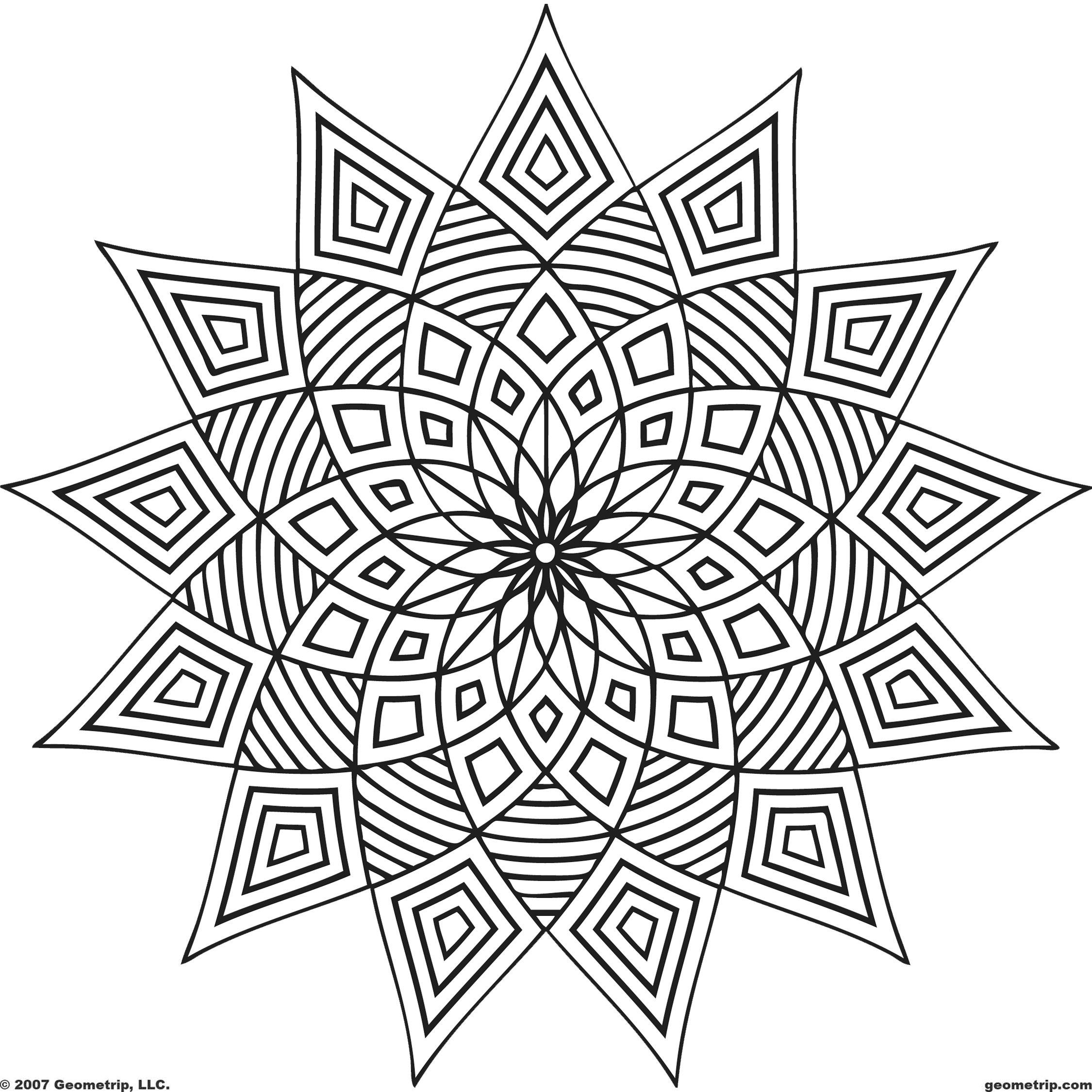 640 Free Printable Coloring Pages Adults Geometric  Images