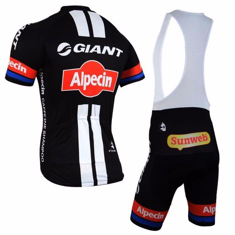 2017 Team Alpecin Giant Pro Cycling Jerseys Black Red  158a70382